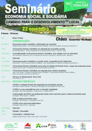 """Seminário internacional """"economia social e solidária – caminho para o desenvolvimento do local"""""""